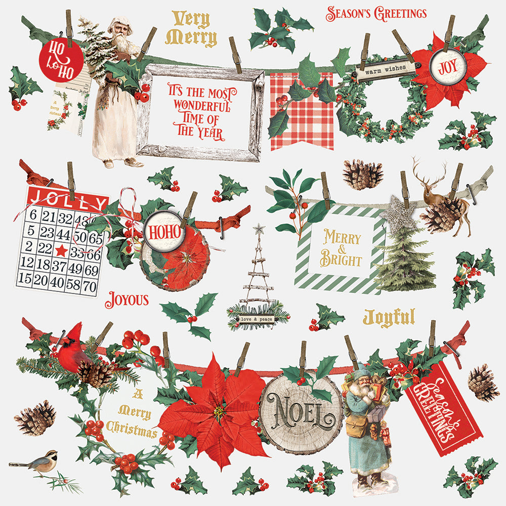 Simple Stories - Country Christmas -  Banner Stickers