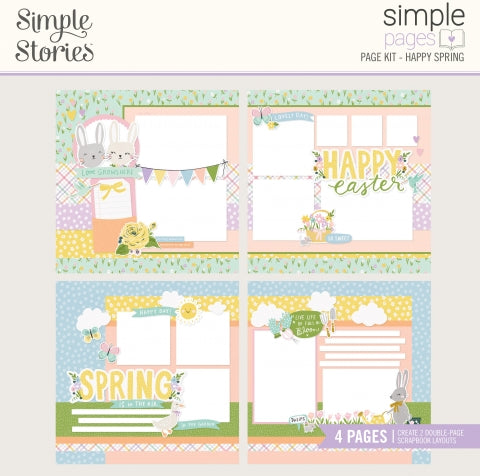 Simple Stories - Simple Pages Page Kit - Bunnies + Blooms -  Happy Spring