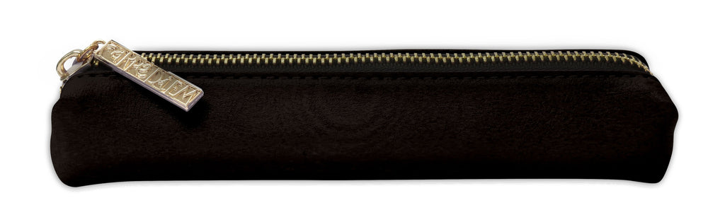 Carpe Diem - Slim Pencil Case - Black