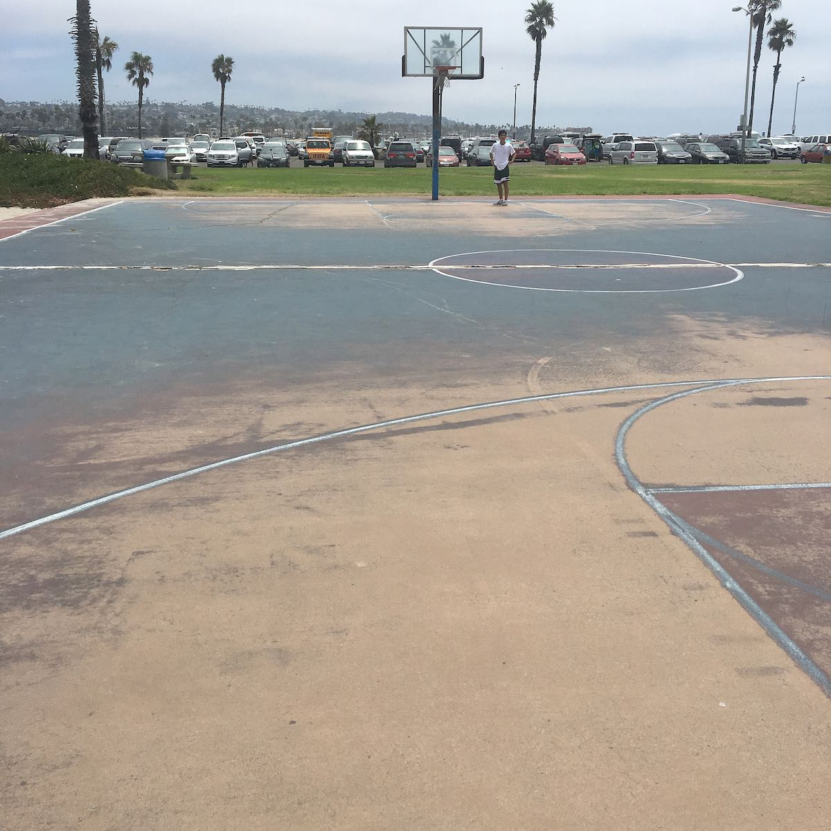 San Diego BIG - basketball court need resurfacing