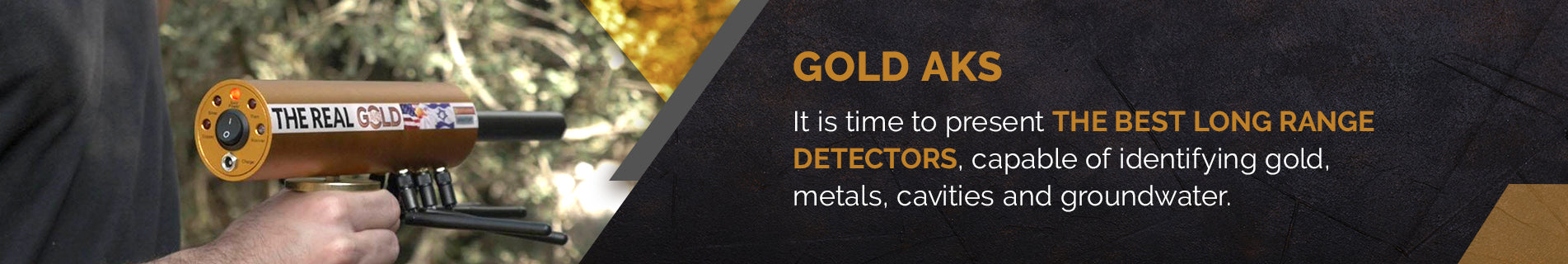 Gold AKS Long Range Metal Detectors | Free US Shipping | Secure Payment