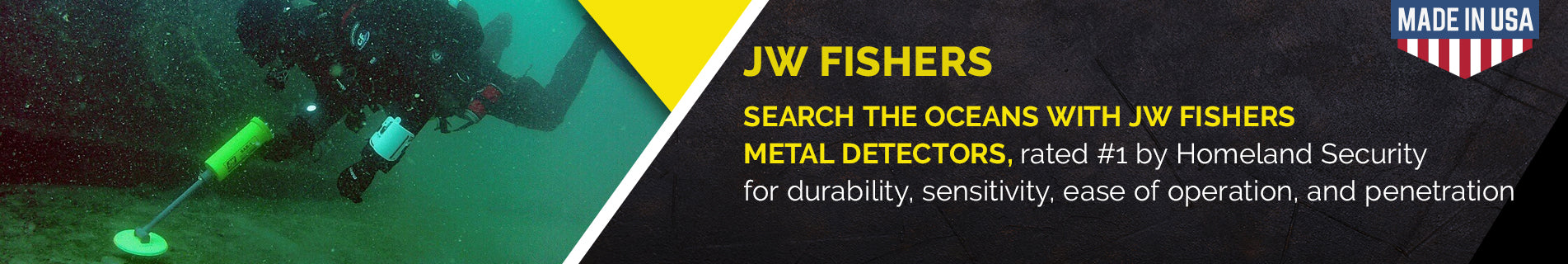 JW FISHERS Metal Detectors | Underwater Recovery | Scuba Diving