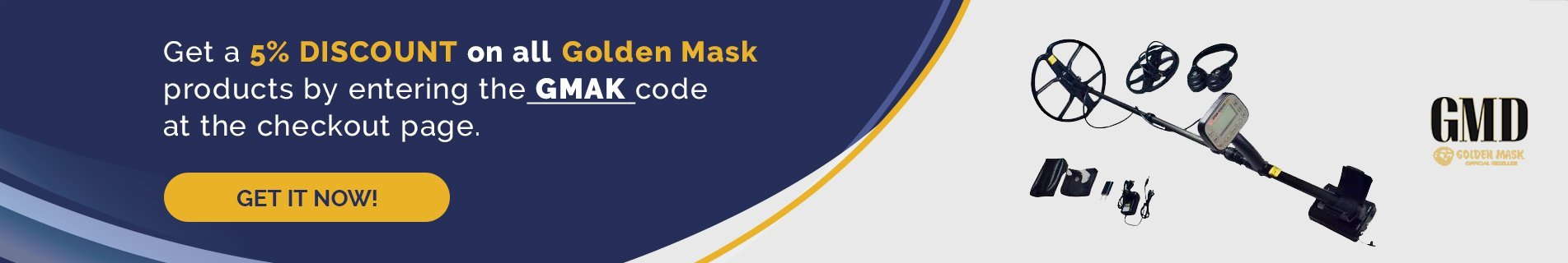 Golden Mask Metal Detectors | Free US Shipping | Secure Payment