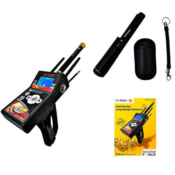 GER Detect Gold Hunter Geolocator Metal Detector - 2019 Version - 6 Search Systems + Free Pinpointer