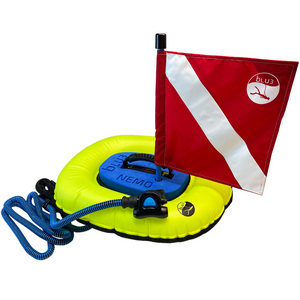 BLU3 Nemo Dive System - Red and White Flag