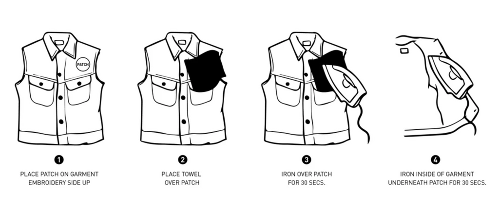 how to iron-on a patch