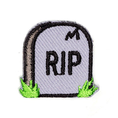 RIP Embroidered Sticker Patch