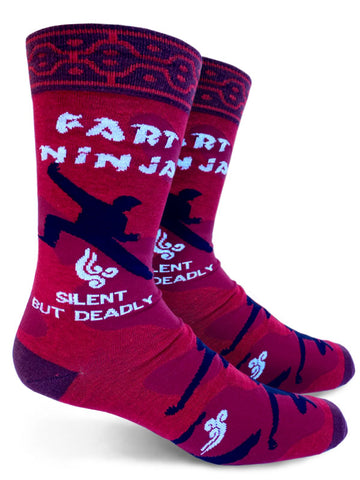 Fart Ninja Mens Crew Socks