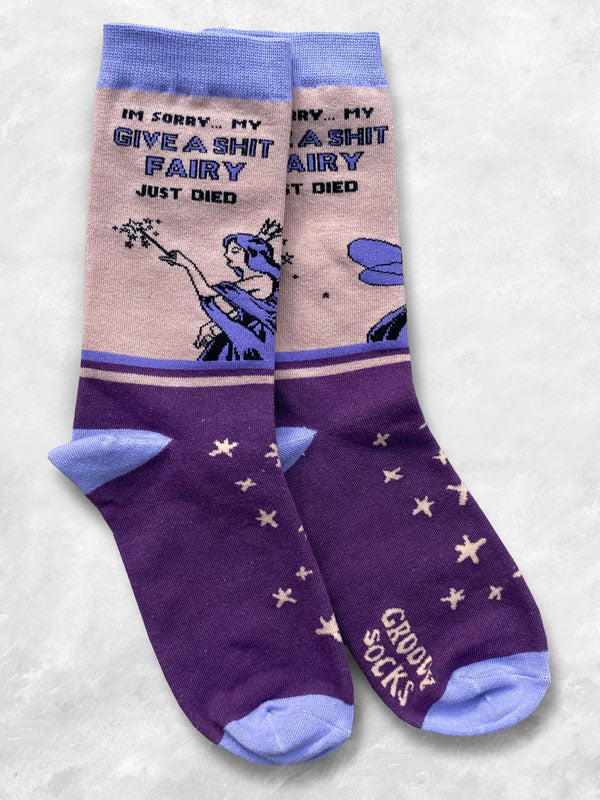 Give a shit fairy socks