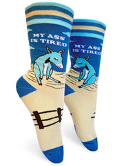 My Ass is Tired Womens Crew Socks