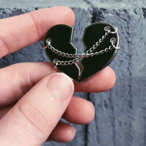 Heart in Chains Pin