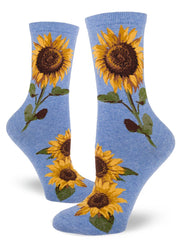 Sunflower Womens Crew Socks