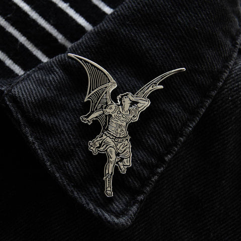 Gustave Dore Lucifer Enamel Pin