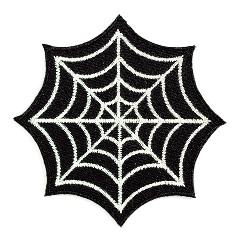 Spider Web Embroidered Iron-On Patch