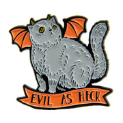 Evil as Heck Enamel Pin