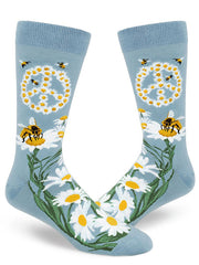 Give Bees A Chance Mens Crew Socks