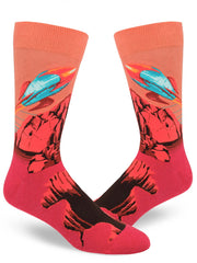 ROCKET FROM THE RED PLANET MEN'S SOCKS