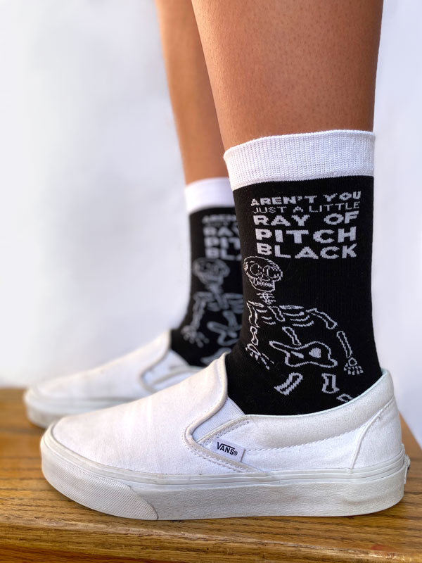Pitch Black Socks