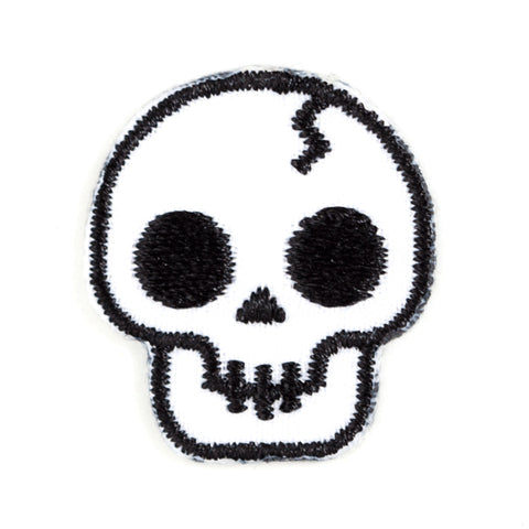 Skull Embroidered Sticker Patch
