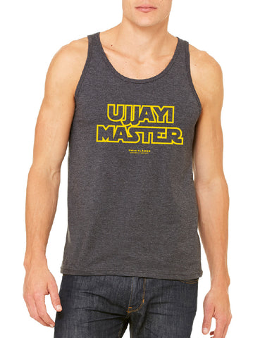 Twin Flames Apparel : Ujjayi Master - Tank Top (Unisex) - Dark Grey Heather