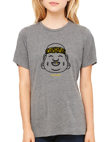 Twin Flames Apparel : Gold Tooth Buddha - Crew Neck (Ladies) - Deep Heather