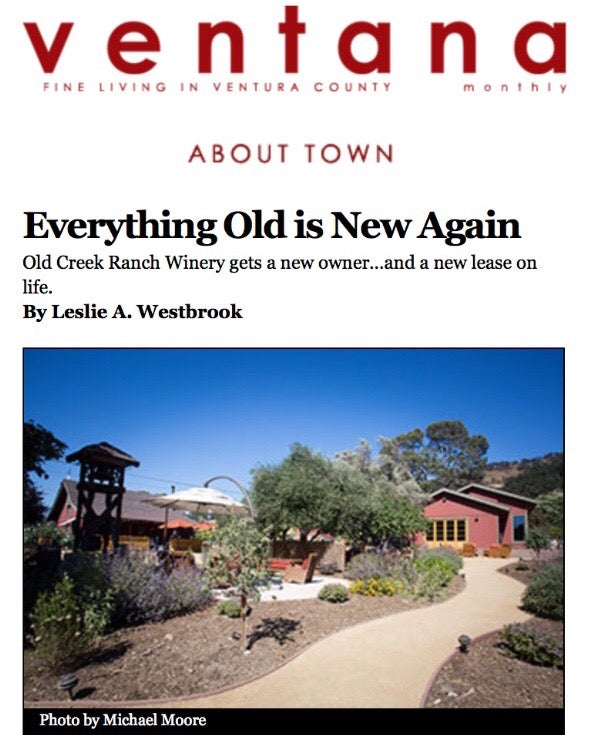 Everything Old is New Again, Ventana Monthly Magazine