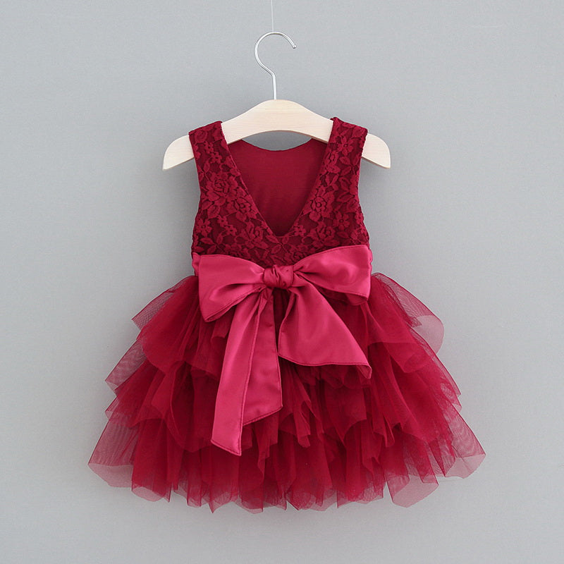 Aria Dress Wine Red