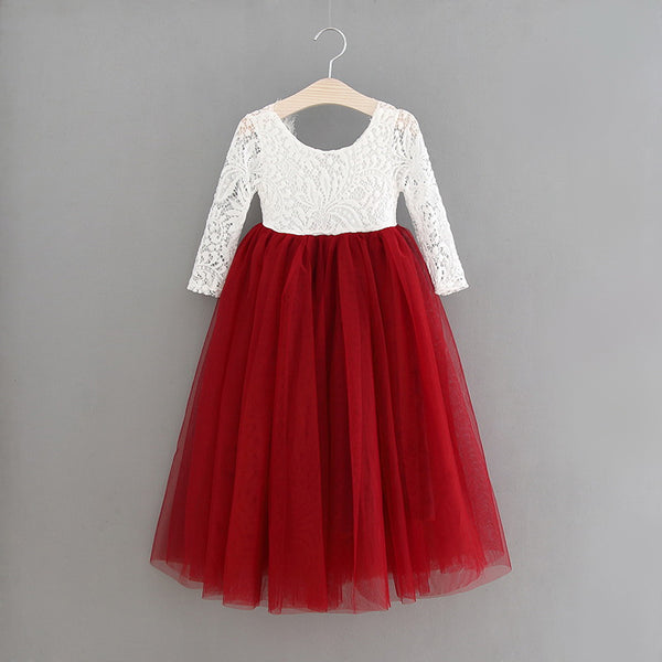 Anastasia straight skirt ~ Wine red