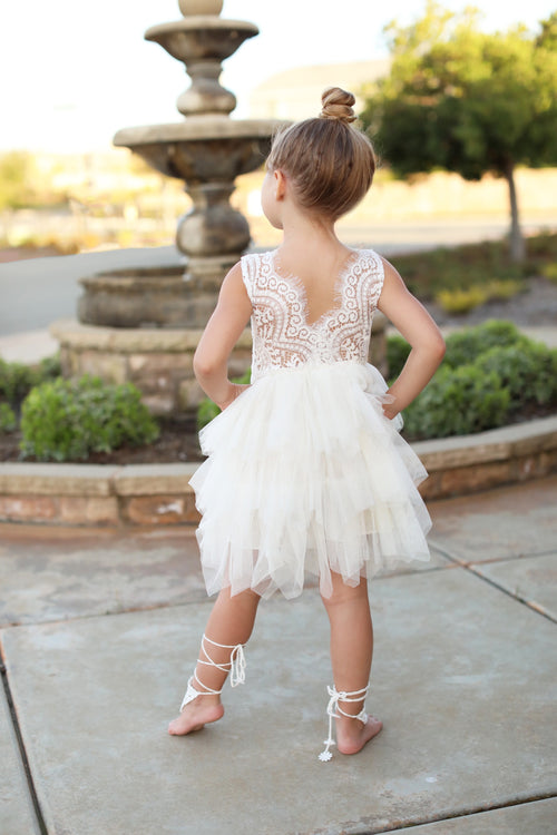 Monroe Dress ~ Cream Tulle