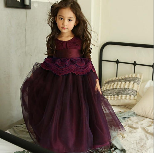 Evelyn Gown ~ eggplant purple