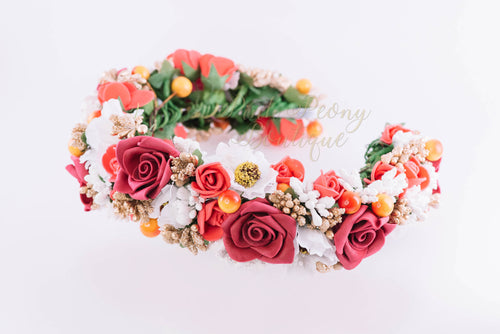 Flower Crown ~ Red
