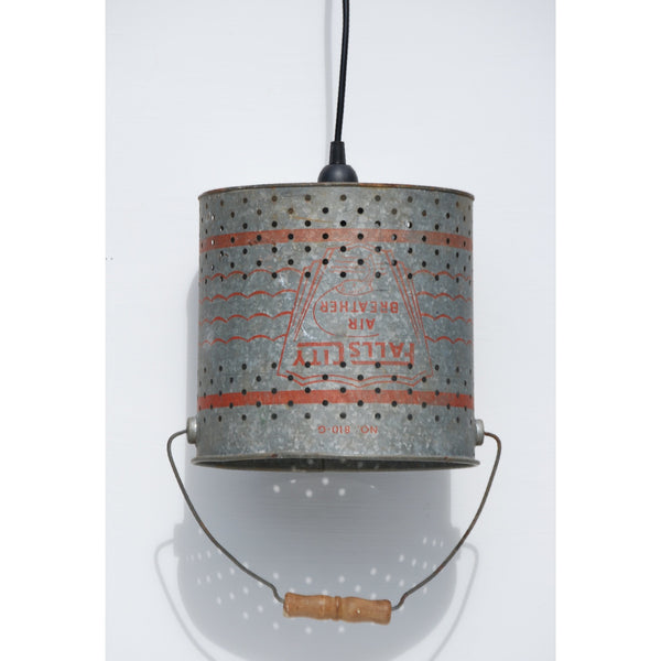 Antique Minnow bucket Hanging Lamp