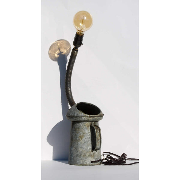 Antique Open Top Oil Can Lamp