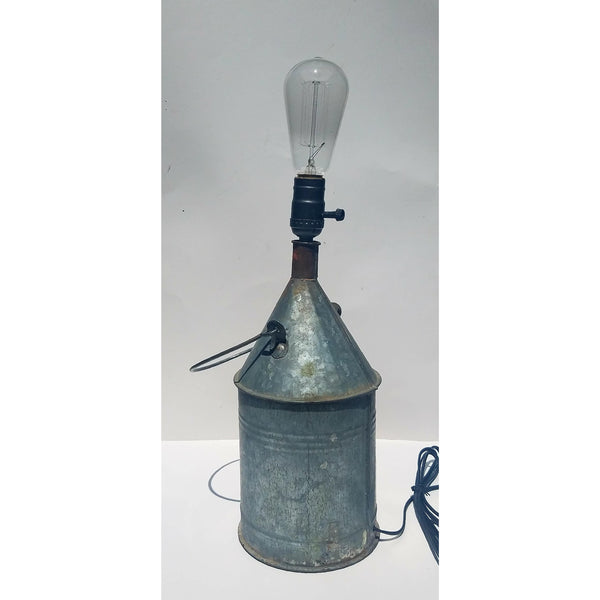 Antique Kerosene Can Lamp