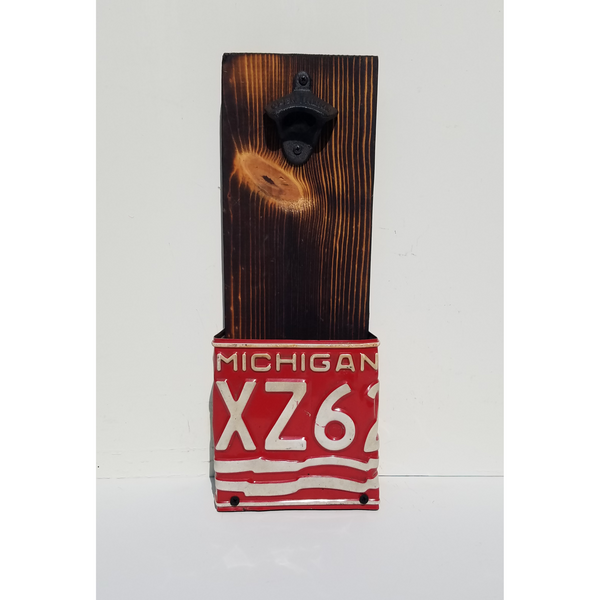 1976 Michigan License Plate Beer Bottle Opener