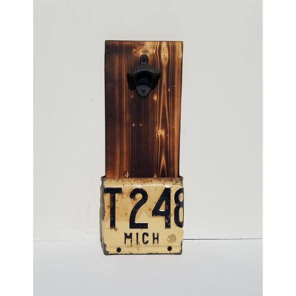 Michigan 1939 License Plate Beer Bottle Opener