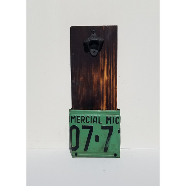 1938 Michigan License Plate Beer Bottle Opener