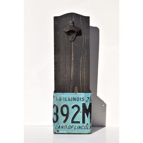 Illinois 1969-70 Antique License Plate Beer Bottle Opener