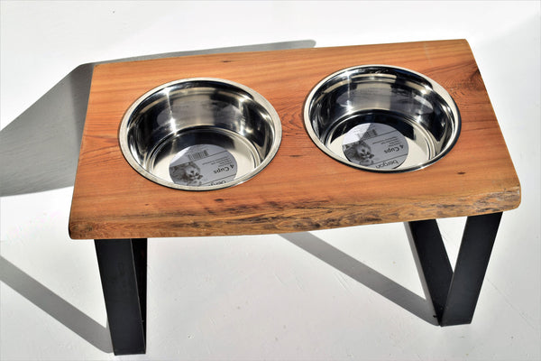 Cypress Raised Dog Feeder