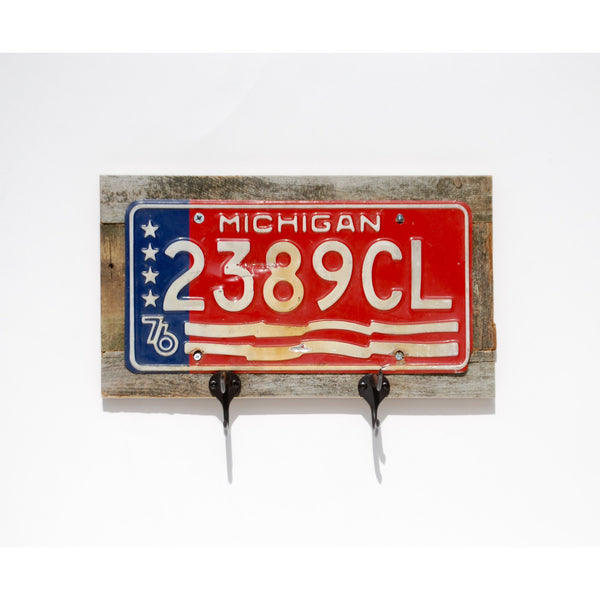 Vintage License Plate Storage Rack