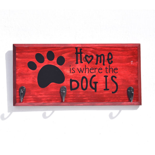 Home is Where the Dog Is Key/Leash Holder