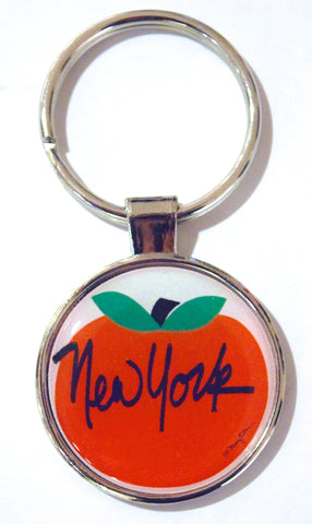 Big Apple NY Dome Keychain (Pack of 12)