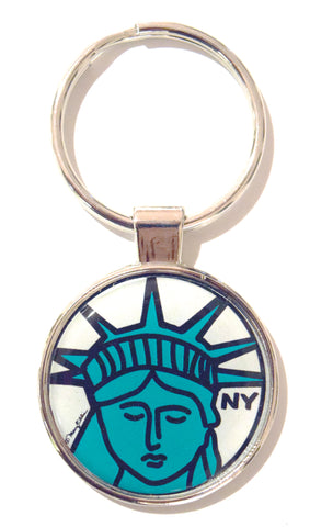 Statue Face NY Dome Keychain (Pack of 12)