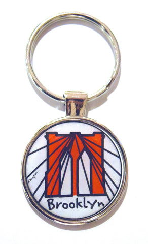 Brooklyn Cables Dome Keychain (Pack of 12)