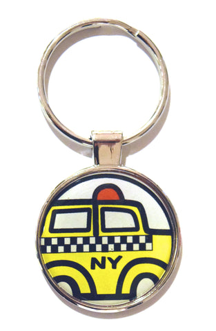 Taxi NY Dome Keychain (Pack of 12)