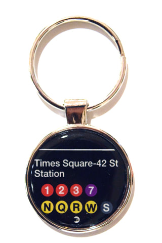 MTA Times Square Subway NY Dome Keychain (Pack of 12)