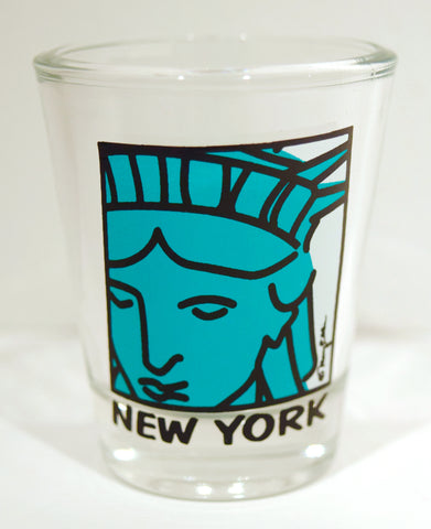 New York Statue of Liberty Face Shot Glass (Pack of 12)