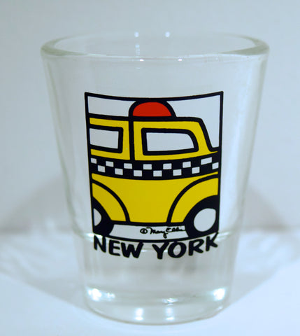 New York Taxi Shot Glass (Pack of 12)