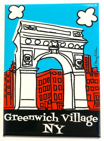 Greenwich Village Magnet (Pack of 12)
