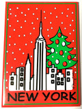 New York Christmas Skyline Magnet